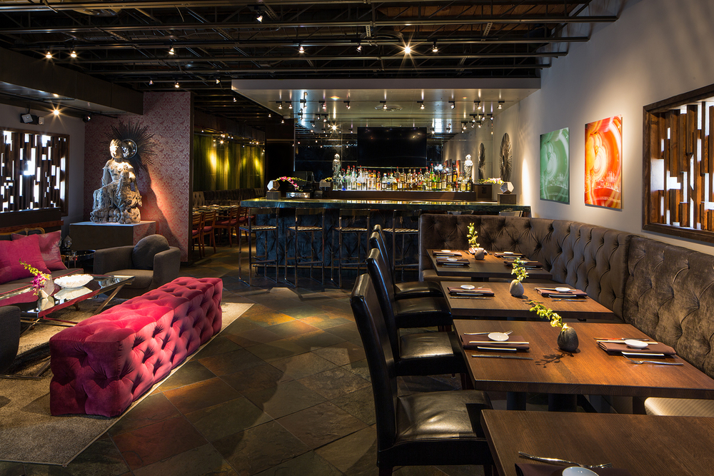Shinsei Restaurant Dallas | upstairs lounge - the Sakaya Room