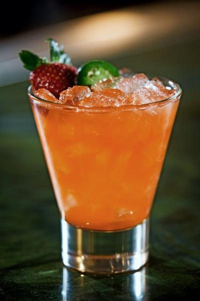 Shinsei Bar | The Strawberry Ichigo  strawberry - jalapeño infused El Jimador Tequila