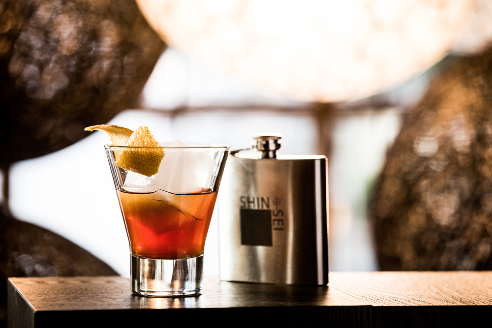 Shinsei Bar | The Old Fashioned citrus - vanilla infused Bulleit Bourbon