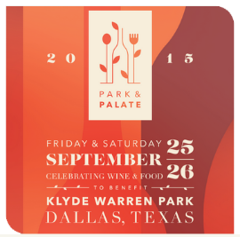 2015 Park & Palate | Sept 25-26 Klyde Warren Park