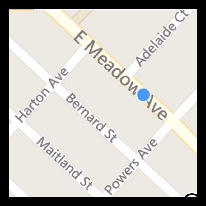 We are located Between Harton Avenue and Powers Avenue right on East Meadow avenue.