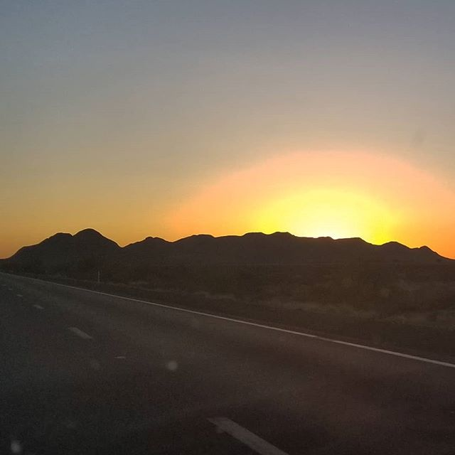 #chasingsunset across the I-10 W from Phoenix to LA yesterday. The farther we go down this road we begin to realize there is only more learning and growing and loving to be done.