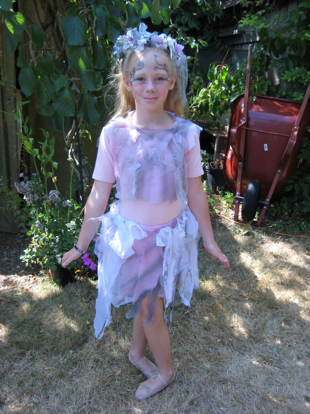 Miranda Cassée as a Fairy in Martha Murphy's backyard
