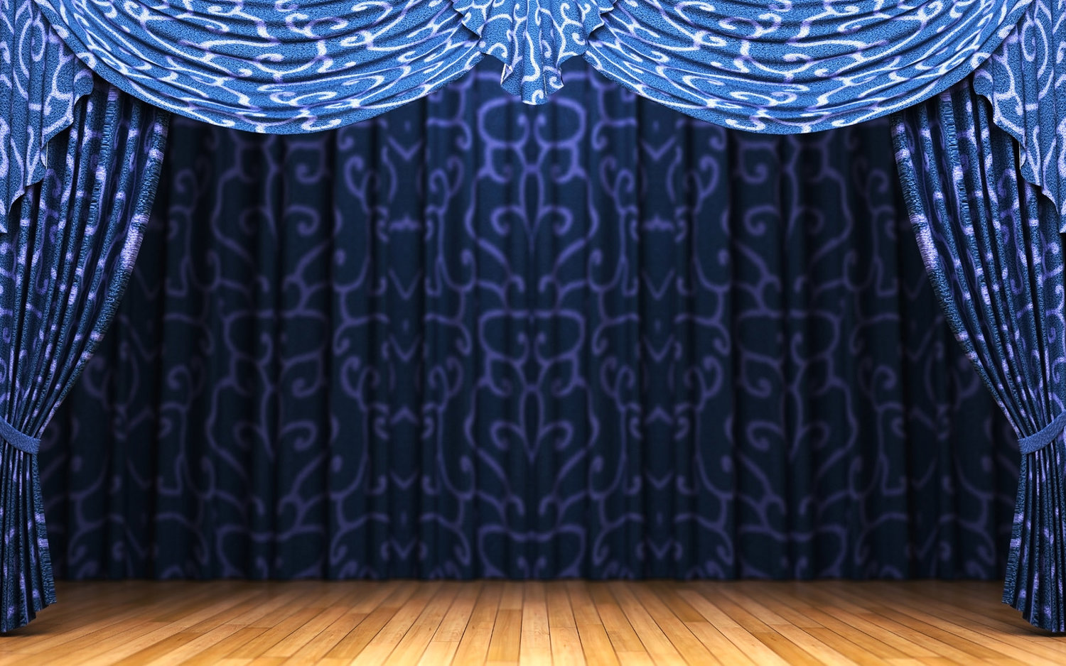 Bl blue stage curtains background - Blue Stage Curtains Blue Theatre Curtain