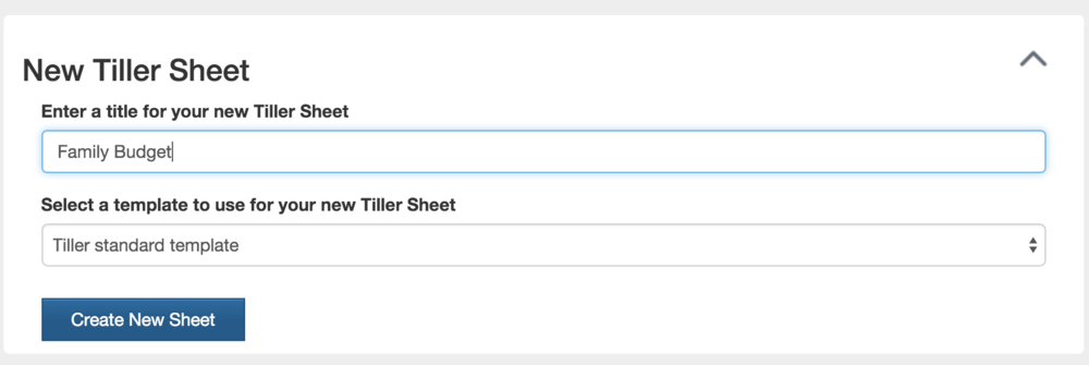 Create up to five tiller sheets