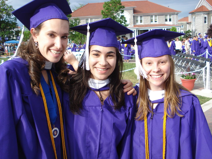 Heather (far right) graduation day from JMU