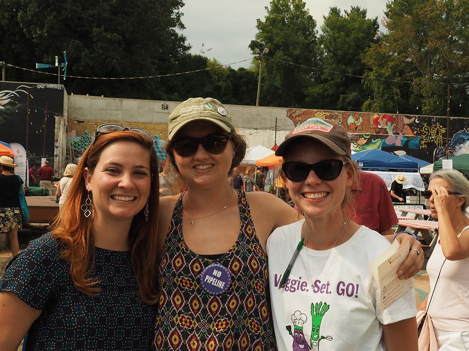 Heather (far right) lead organizer for Charlottesville Vegetarian Festival 2016