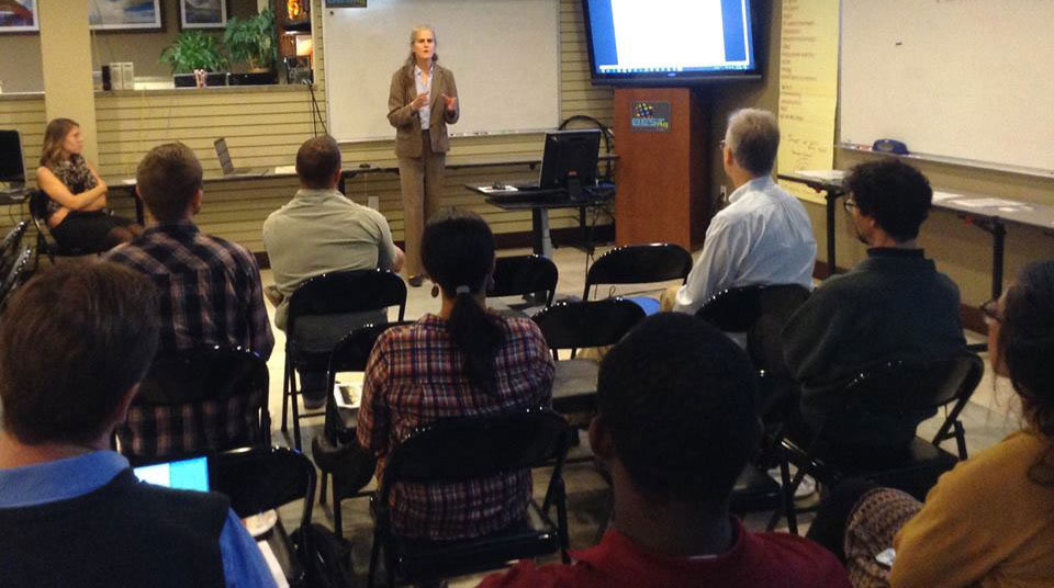 Diane Henkels presenting on a business law topic at BESThq LLC in 2018