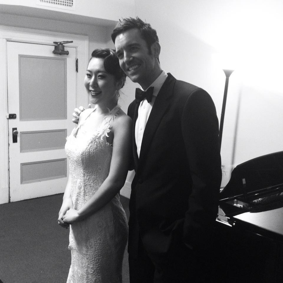 After the Recital with Pianist Cameron Stowe at Jordan Hall