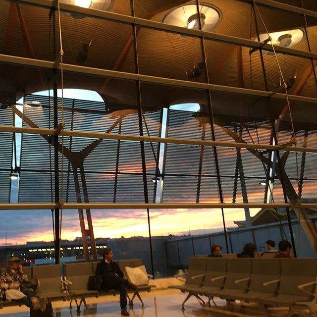 We must let go of the life we have planned, so as to accept the one that is waiting for us ~ J.Campbell • • • • #photography #photographer #photooftheday #airport #airportflow #people #peoplewatching #peoplewaiting #waiting #gohome #sunset #sunsetporn #redsky #liveauthentic #loveir #letsgosomewhere #airporttime #travel #traveller #layover #notalone #yourlife #camaraenmano #nofilter #jj_sunsetlovers  #jj_people #igers  #instamoments #instadaily