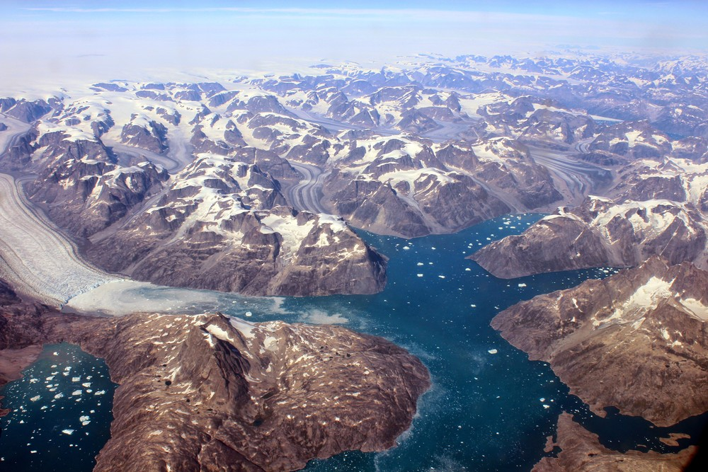 Greenland from above.