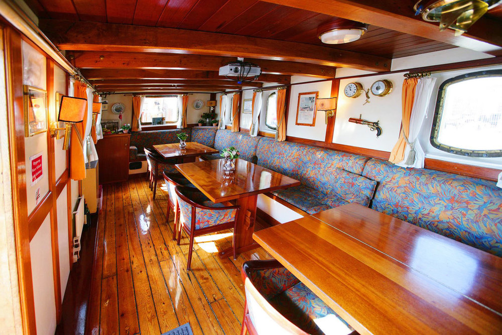 The Deck Saloon has good space and is nicely decorated.