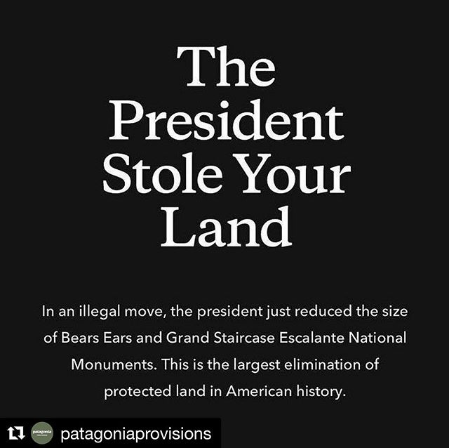 """We've fought hard to protect these places since we were founded and now we'll continue that fight in the courts."" —Rose Marcario, President and CEO, @patagonia  #Repost @patagoniaprovisions (@get_repost) ・・・#protect #land #nationalpark #usa #nature #conservation"