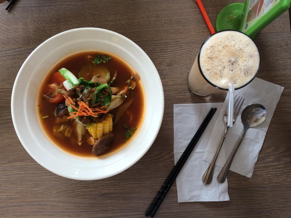 Beef Noodle Soup + Milk Tea