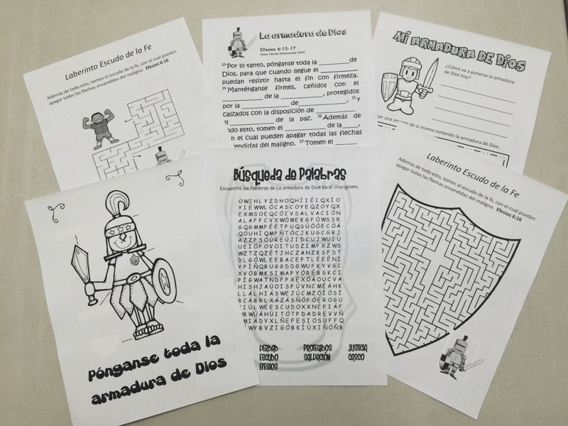 Worksheets that we made for the kids