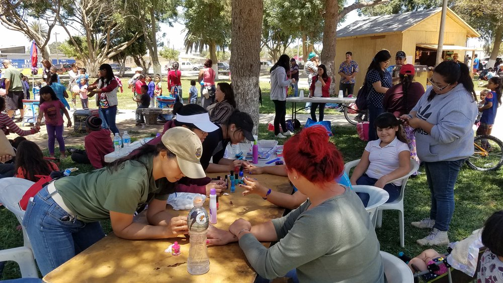 On Saturday, I helped braid hair and paint nails. It was a great opportunity to talk with some of the mothers and girls in the community.