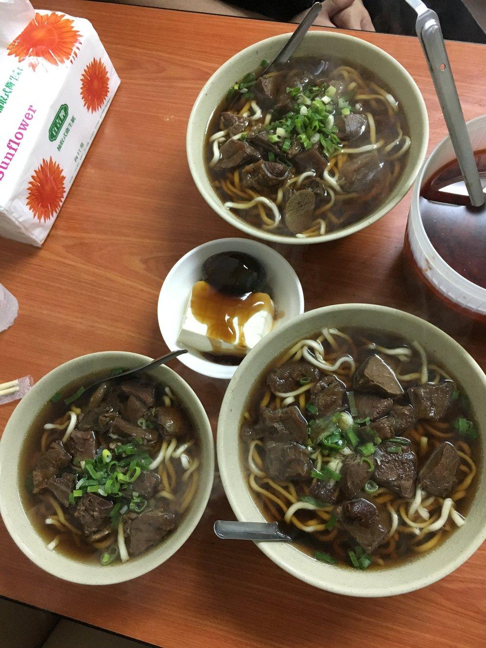 Beef noodle soup!