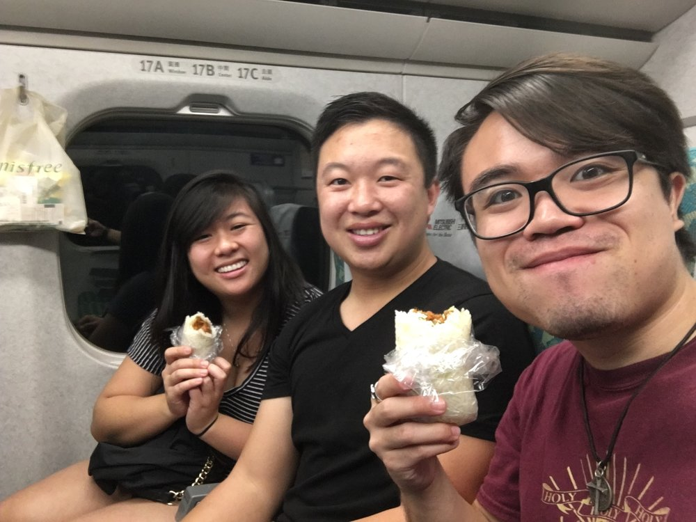 Riding the high speed rail train to Kaohsiung