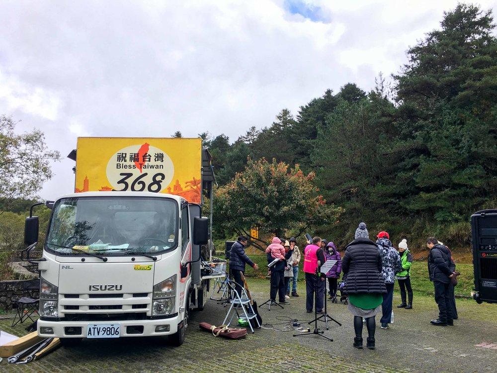Gospel Truck at Mt. Alishan