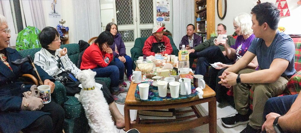 The Harbours invited some of their friends in the community over for snacks, conversation, and a Christmas Bible Story