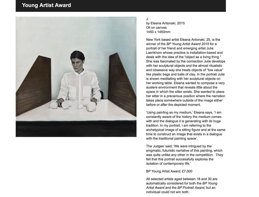 julielaenkholm Young Artist award