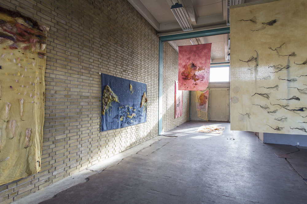 Installation view on Parabolae Feminae at artist space RØM