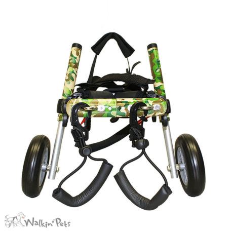 Walkin' Pets Wheelchair     https://www.handicappedpets.com/dog-wheelchair-small-adjustable-wheelchairs-for-dogs-with-disabilities/
