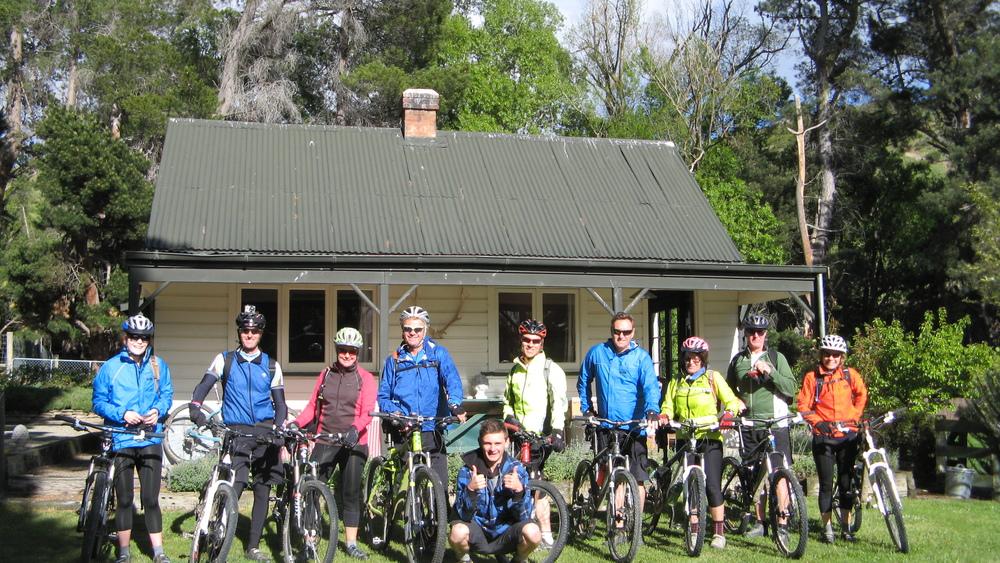mountain bikes at Clachanburn station