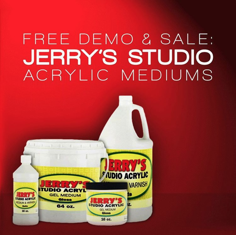 Professional Quality Mediums Created By Artists For Artists! Our Jerry's Acrylic Mediums are made to the highest quality standards, and manufactured in the USA. They provide professional quality at an everyday savings over other high-end acrylic medium brands. As with all our products, your complete satisfaction is guaranteed. Key Features: Five mediums available Infinite control More fluid than heavy body Minimizes brush strokes Perfect For: Adding texture and effects Glazing techniques Final varnish Collage adhesive