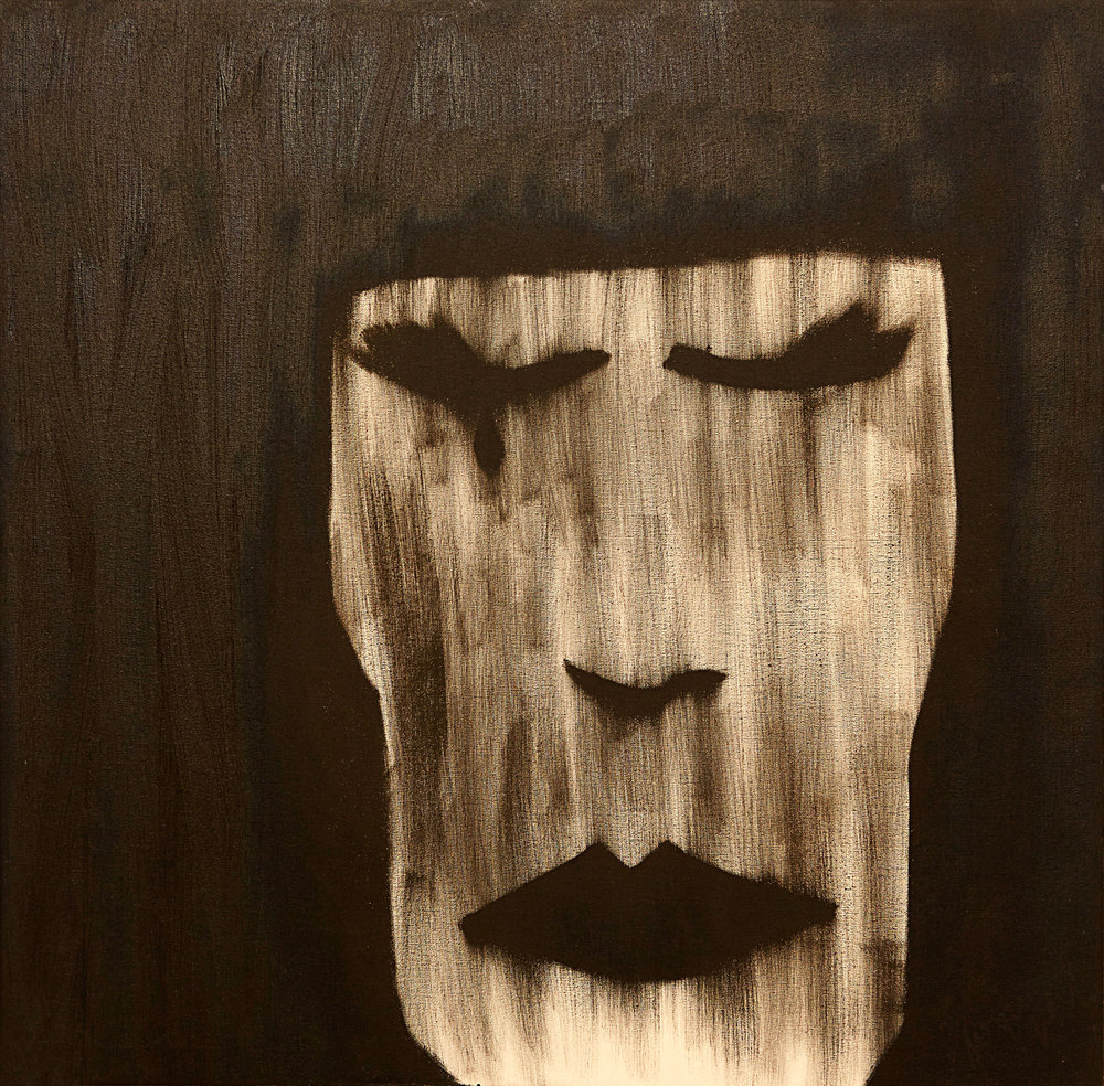 Masks , 2009   Oil on canvas   23 x 23""