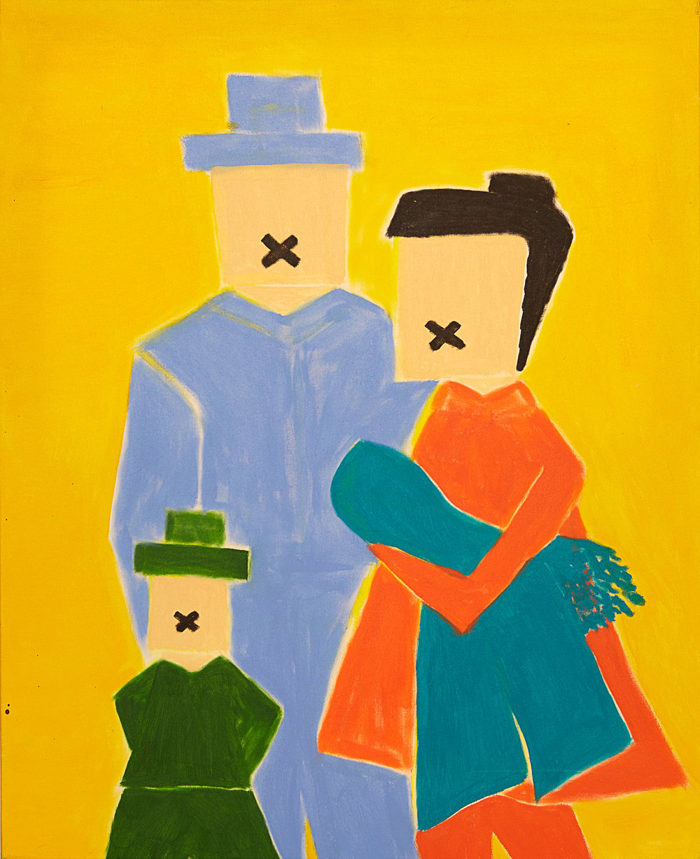 Zitti Family , 2011   Oil on canvas   31 x 39""