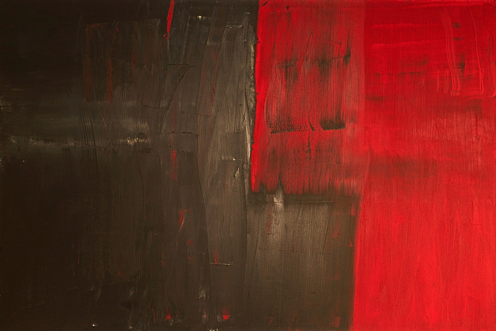 Bleeding, 2012 Oil on canvas 48 x 72""