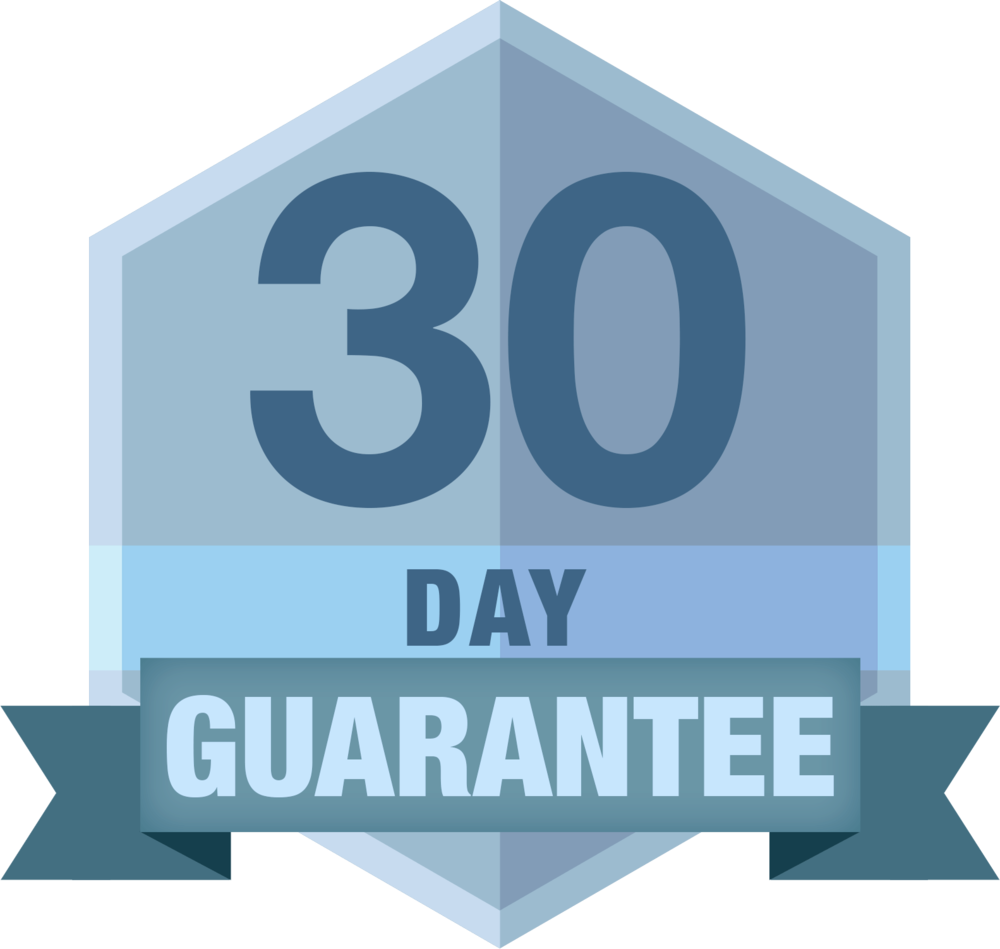 Return Policy: 30 day 100% money-back guarantee