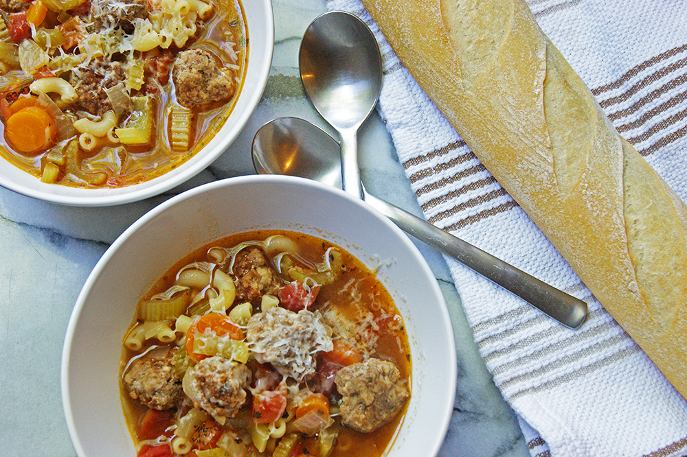 mini meatball soup 1