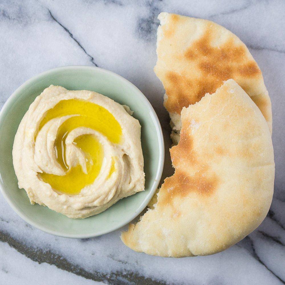 how to prepare pita bread for hummus