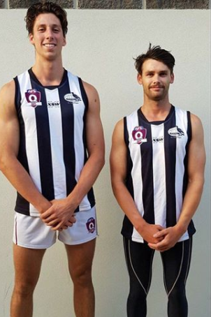 (L-R) Dylan Adkins and Brenton Saunders