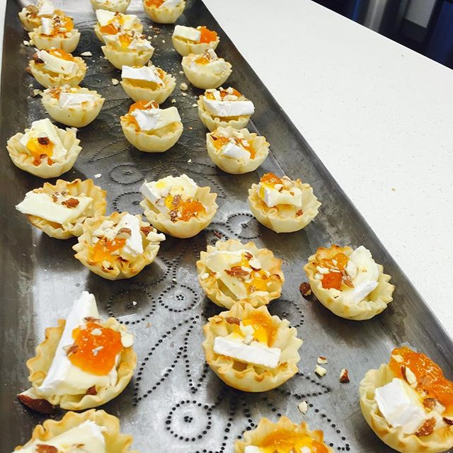 Brie tartlets!  Can you say yummy?! #foodofinstagram #cheflife