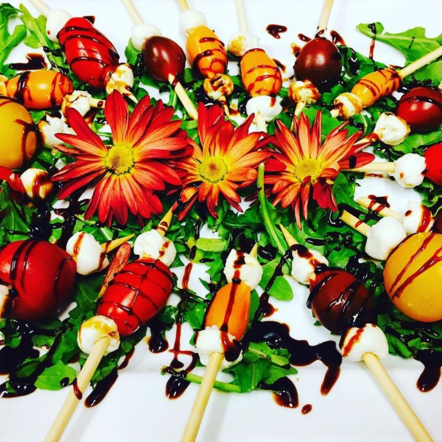 Caprese salad skewers, anyone?! Thank you, @azbs_chicago , for having us host your #tech #takeover tonight!  #privatechef #clientsalwayscomefirst #mustloveveggies