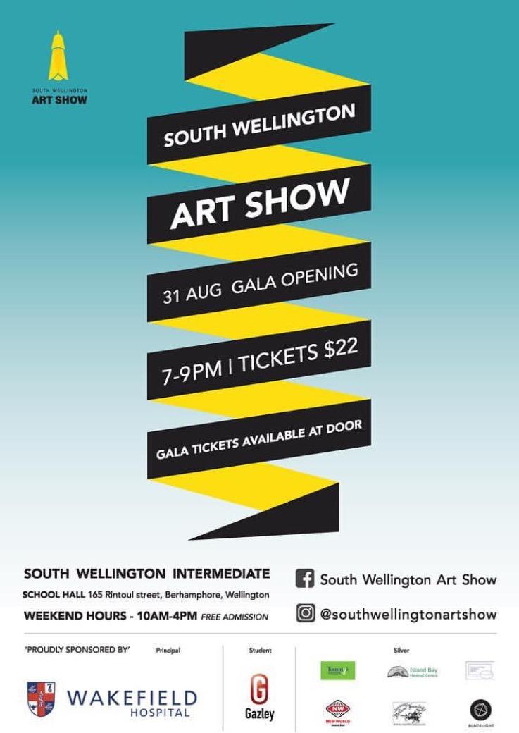 South Wellington Art Show - 165 Rintoul StreetWellington31 August 2018