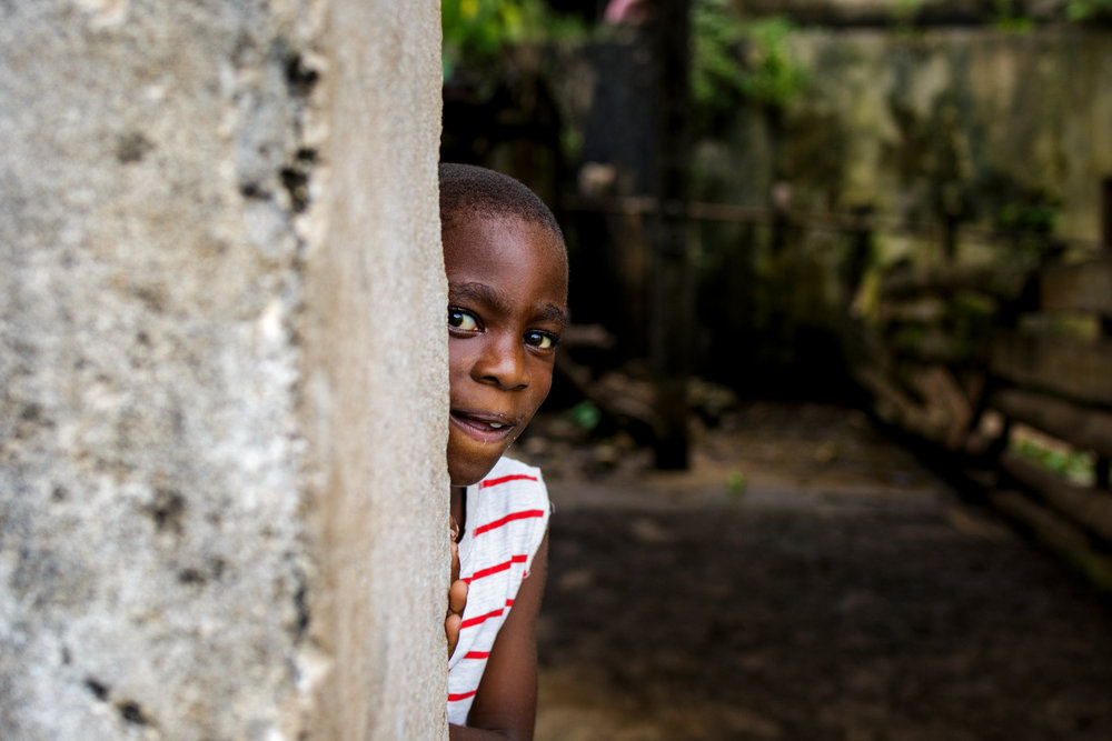 A child in a village near Cao Grande