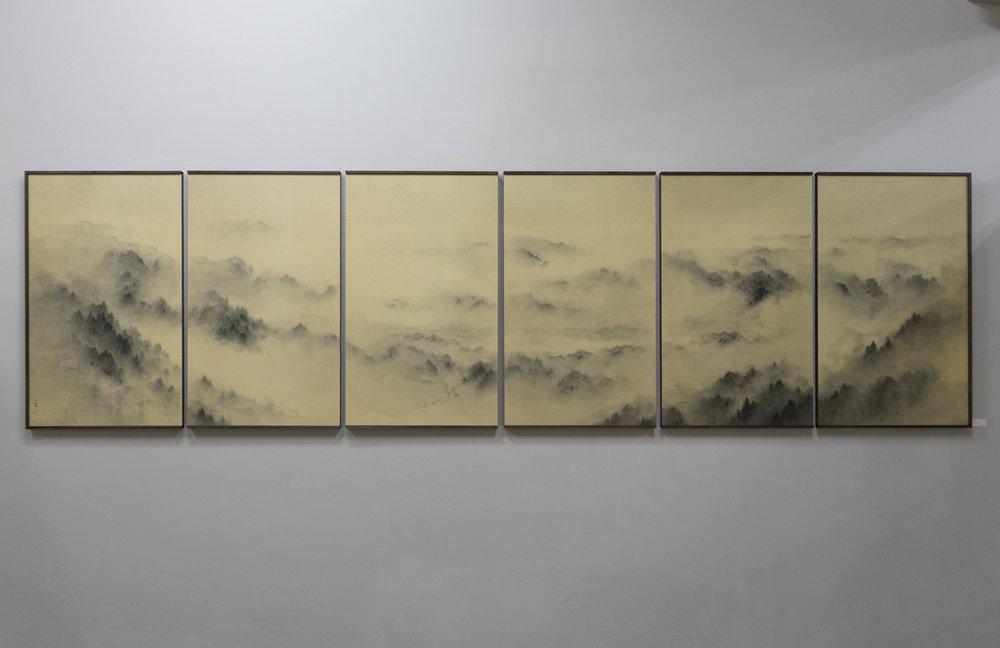 17035 幻想山林図 (965x3450mm), ¥1,960,000-
