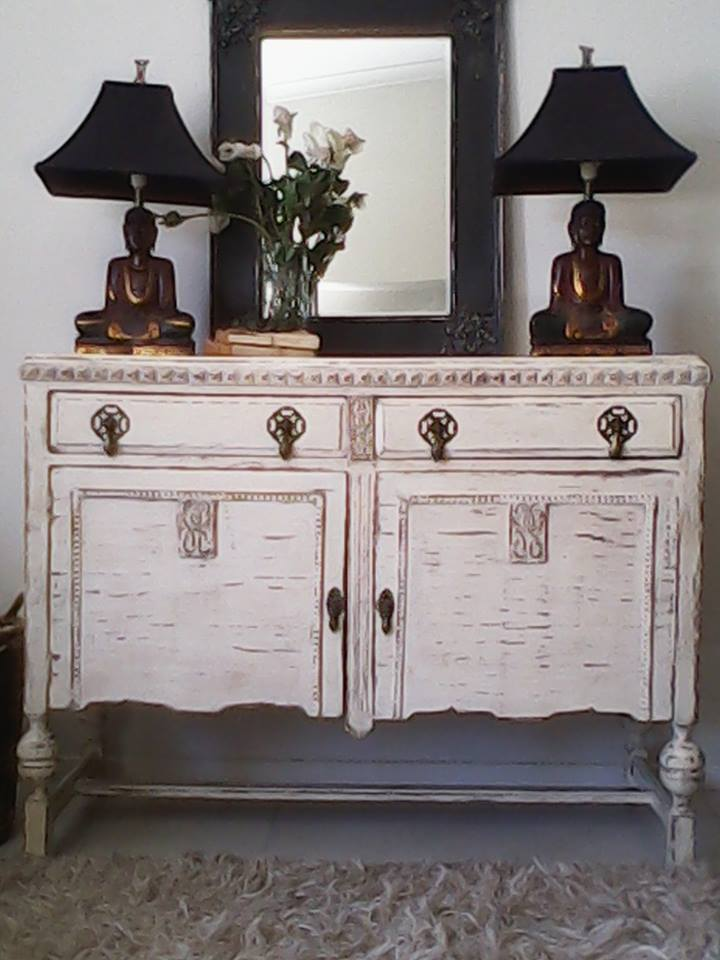 """Gorgeous Ornate Antique Buffet..."""