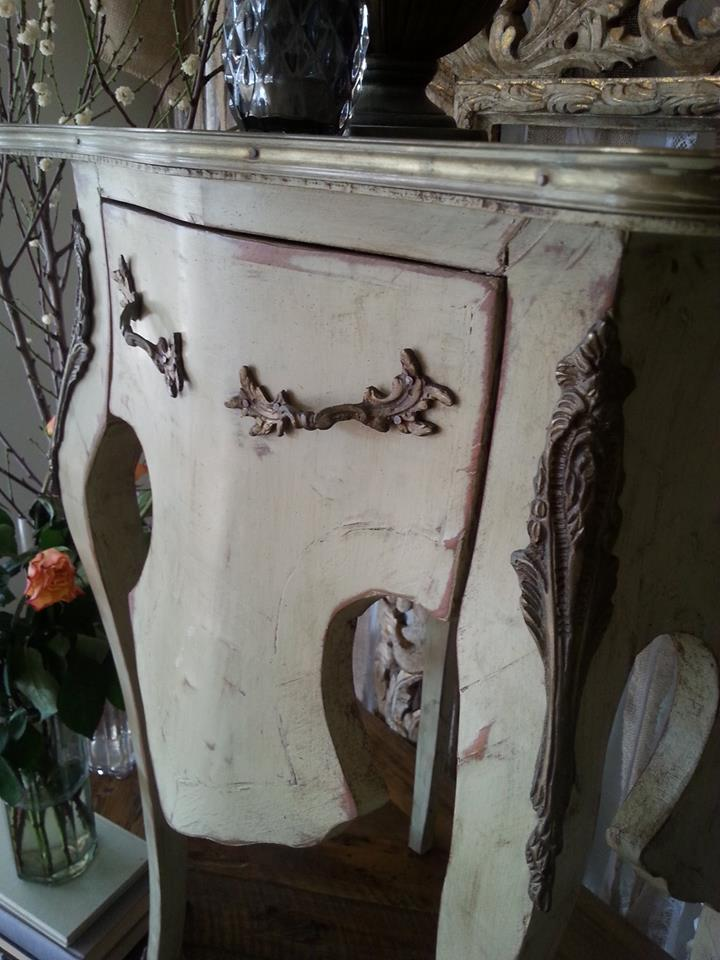 """French Antique TALL Hall Table..."""