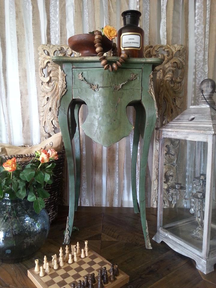 """""""Antique GREEN Ornate Hall Table..."""""""