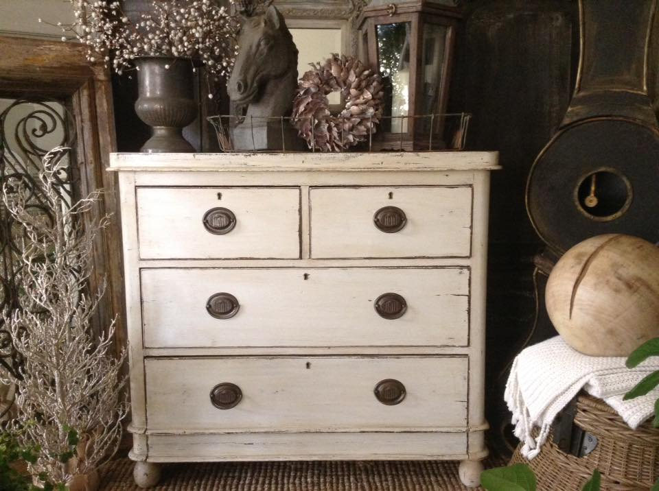 """""""White Christmas Cocktail!!"""" Antique French Chest Of Drawers..."""