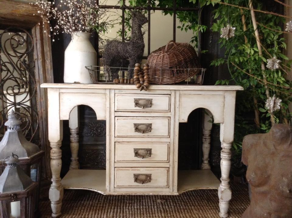 """La Vie Est Belle!!"" French Antique Hall Table..."