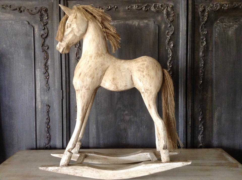 """Antiquated French Primitive Horse..."" x"