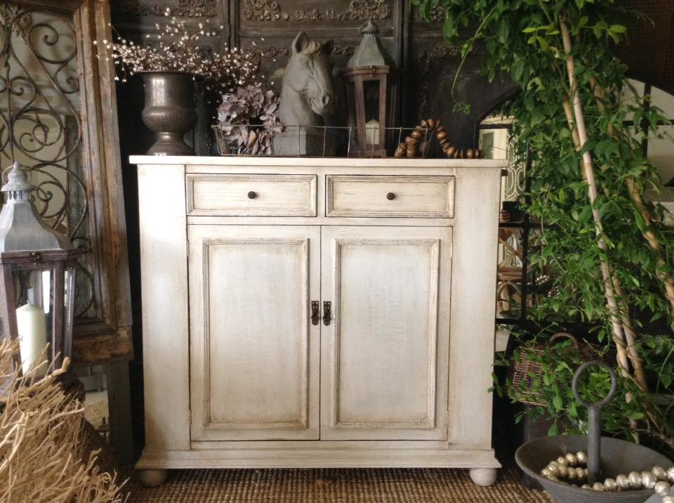 """Les Olivettes!!"" French Rustic Cabinet...."