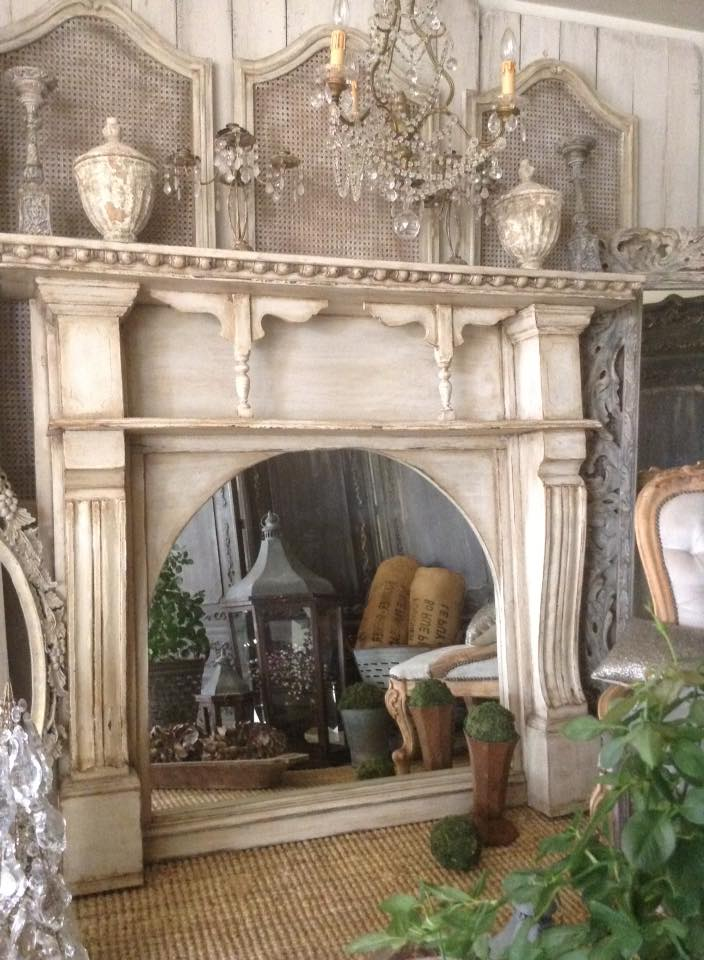 """Trop Beau!!"" Antique Mirror Fireplace..."