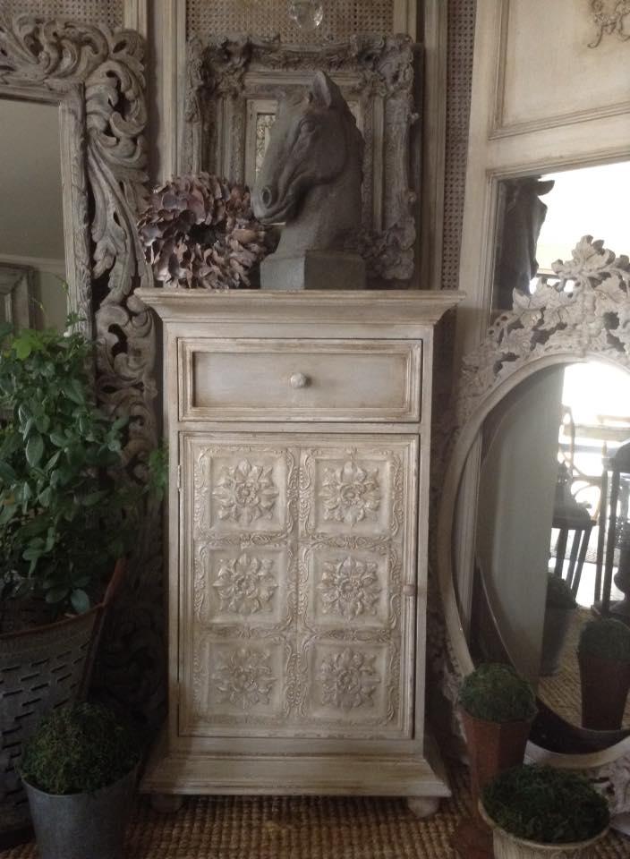 """""""La Dolce Vita!!""""  Pressed Tin Cabinet..."""